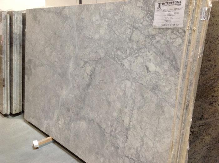 Super White Leathered 3cm Quartzite #161121-O (MGO)