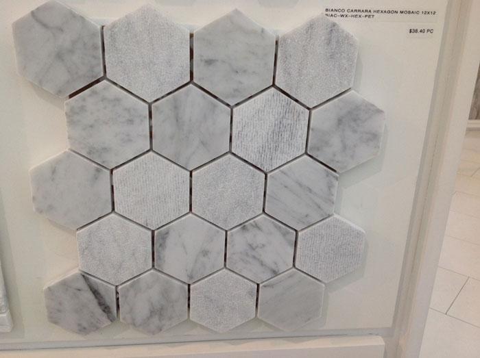 Bianco Carrara Hexagon Mosaic 12x12 BIAC-WX-HEX-PET