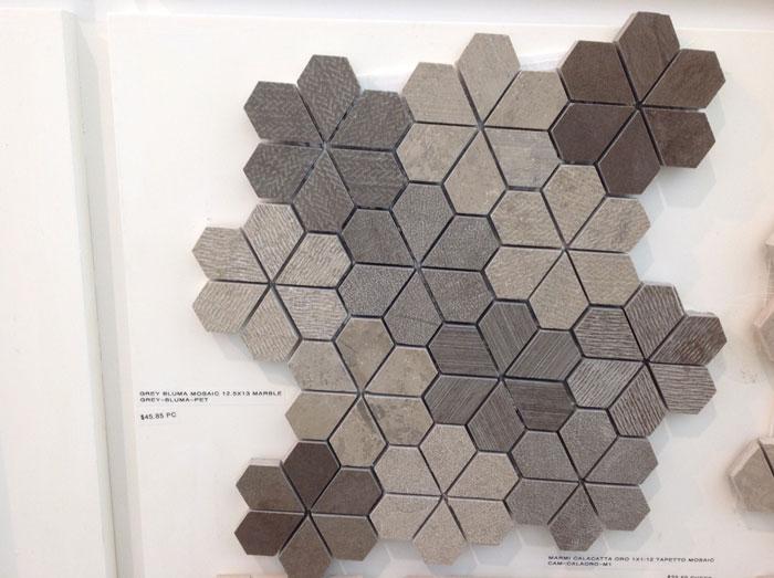 Grey Bluma Mosaic 12.5 x 13 Marble GREY-BLUMA-PET