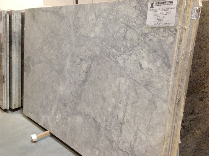 Super White Leathered 3cm Quartzite #161121-O (MGO)
