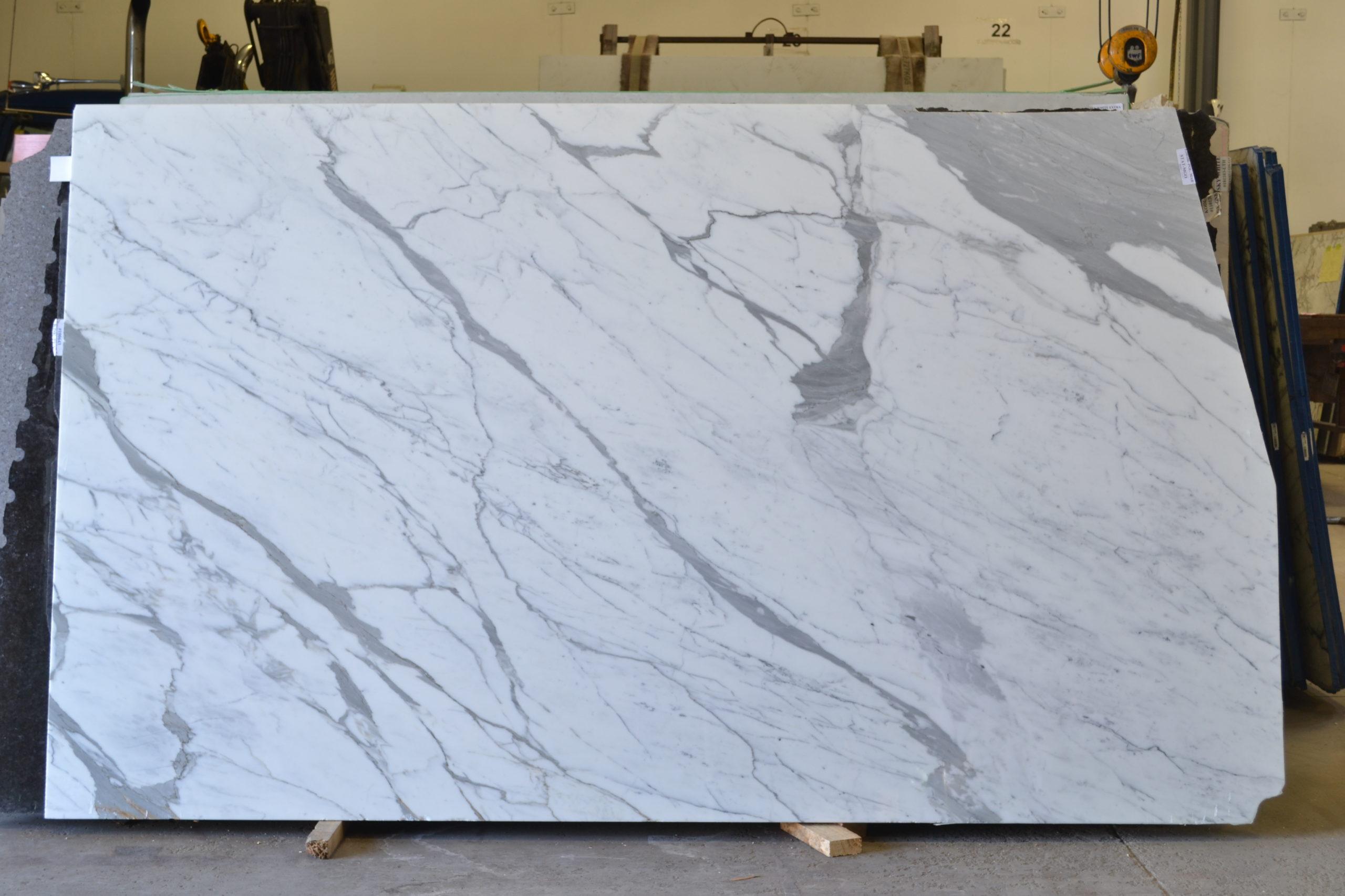 Statuario 2cm Polished Marble #200106-Pol Mar (MGO)