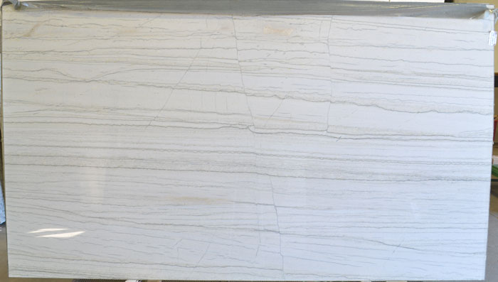 White Macaubas 2cm Polished Quartzite #170209-QTZ (GZL)