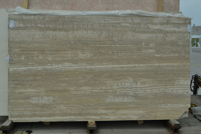 Pedra Dark 2cm Polished Travertine #100823-Tr Pol (GAL)