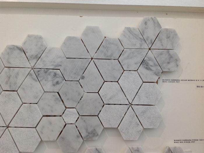 Bianco Carrara Azhar Mosaic 8x11.5 Waxed BIAC-AZHAR-PET