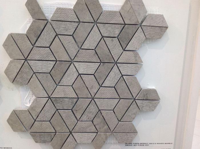 Smoke Piros Mosaic 10x12.5 Waxed Marble SMOKE-WX-PIROS-PET